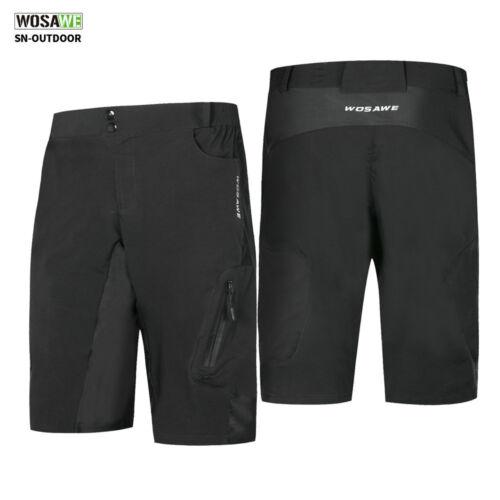 Men/'s Loose Baggy Cycling Shorts MTB Bike Casual Zipped Pocket Short Pants S-XXL