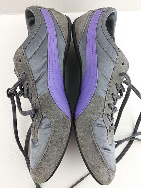 3fff228b PUMA Women's Size 9.5 B Grey Purple Nylon Suede Athletic Shoes #395