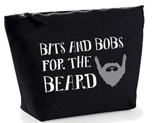 beard mens wash travel bag large funny grooming kit gift dad grandad brother ebay. Black Bedroom Furniture Sets. Home Design Ideas