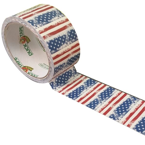 x 10 yds Gold Geometric Duck Brand 241794 Printed Duct Tape 1.88 in