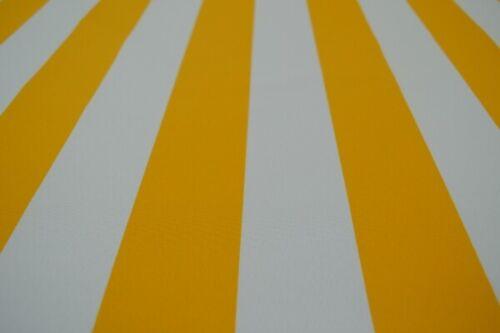 GP 7,17 €//qm Markisenstoff Meterware gelb weiß gestreift Outdoorstoff Streifen
