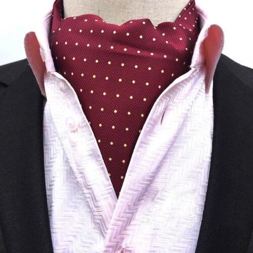 Mens Fashion Floral Paisley Polka Dots Scarves Cravat Ascot Neck Ties Gentleman