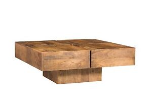 couchtisch amberley 80x80cm mango echtholz natur rustic massiv holz g nstig ebay. Black Bedroom Furniture Sets. Home Design Ideas