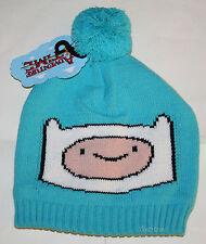 Adventure Time With Finn and Jake: Blue Watchman Knit Beanie Hat Ski Cap Pom Pom
