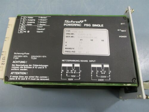 Schroff PSG-115 Powerpac PSG Single Power Supply - Used