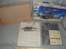 Vintage Airplane ESCI 1/48 scale Model kit AMD-BA/ Dornier Alpha Jet