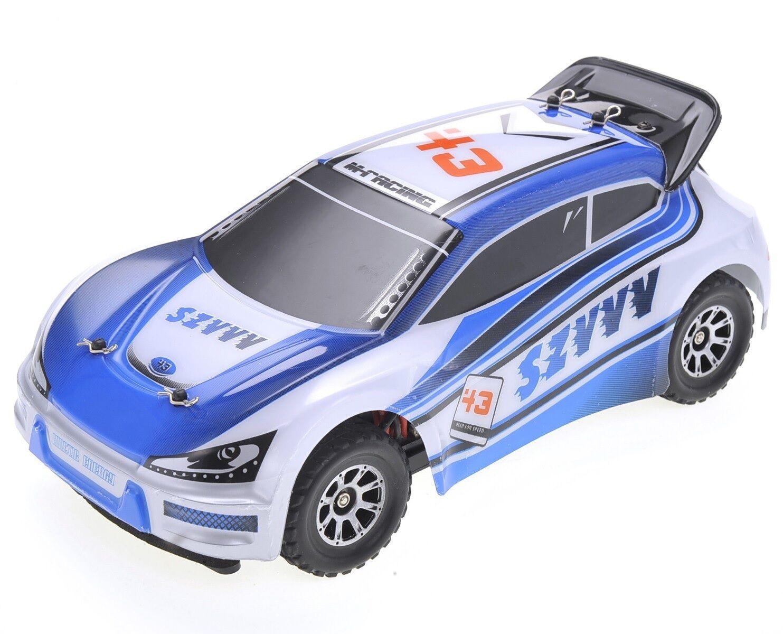 1 18 RC Rally Car Electric 2.4GHz Radio Remote Control 4WD RTR azul New