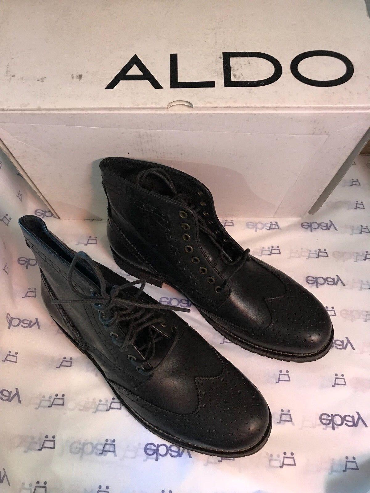 pretty nice 5c1c5 abeef Aldo Ronquillo Ankle Wingtip Lace Up Stivali D Brown Uomo Size 43 10 D  Stivali ...
