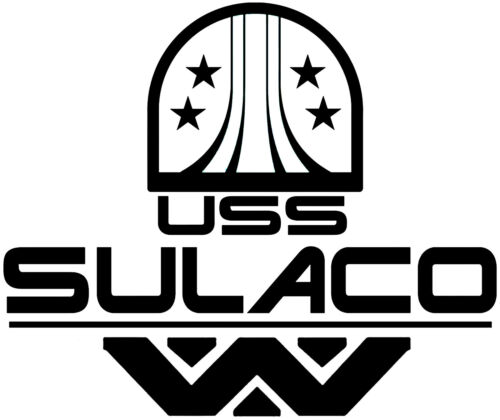 Alien USS Sulaco Vinyl Decal Sticker for Car Van Laptop Tablet Wall