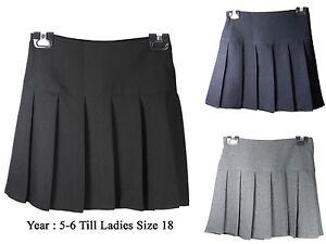 Kid-Filles-childeren-Femmes-Plisse-BACK-TO-SCHOOL-Britini-Fermeture-Eclair-Arriere-uniforme-jupe