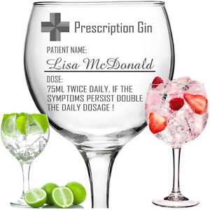 Personalised Name Glitter Wine Glass Birthday Wedding Bridal Friend Hen Party