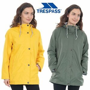 Trespass-Womens-Rain-Jacket-Waterproof-Hooded-Rain-Coat-Yellow-amp-Green