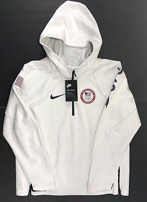 Nike Sportswear Tech Fleece Team USA Olympics Women's Pullover 907626 100 Sz L 887227845030 | eBay