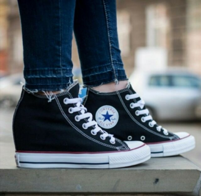 Size 9 - Converse Chuck Taylor All Star Lux Wedge High Black for ...