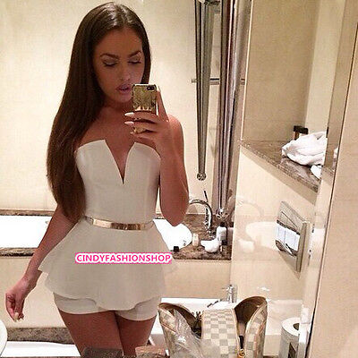 Sexy Women Lady V Neck Bodycon Jumpsuit Romper Trousers Clubwear Bandage Dress