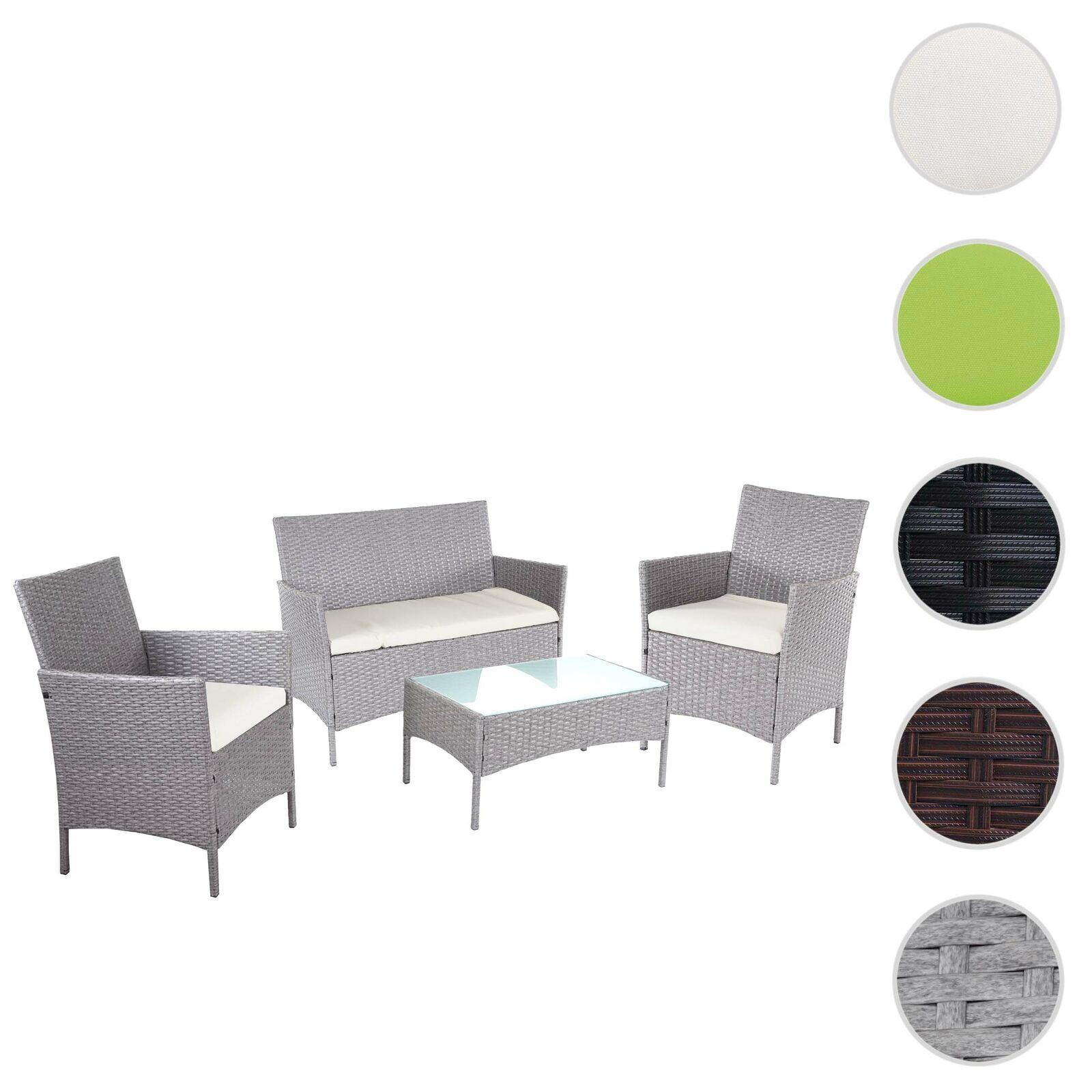2-1-1 poli-giardino in rattan-Set Halden, gruppo di sedie