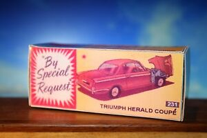 Corgi Vintage styled Triumph Herald Coupe Reproduction Box Only 231 - Liskeard, United Kingdom - Corgi Vintage styled Triumph Herald Coupe Reproduction Box Only 231 - Liskeard, United Kingdom