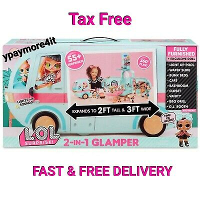Glamper Fashion Camper with 55 2-in-1 with 1 exclusive LOL doll Surprises