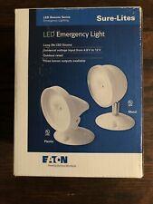 Sure Lites Srp25wh Led Emergency Light Single Head White Eaton Nib