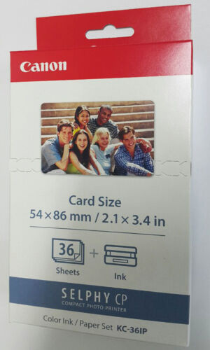 Canon KC-36IP Cartridge/&Paper Pack Card Size Paper 36-Sheets