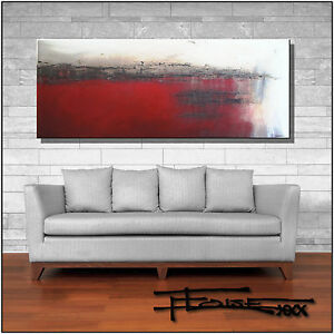 ABSTRACT-PAINTING-Modern-CANVAS-WALL-ART-Framed-Signed-Large-US-ELOISExxx