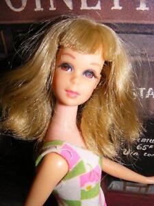 Wow-FRANCIE-Vintage-1966-MOD-Silver-Ash-Blonde-Hair-BENDABLE-LEG-Doll-Barbie