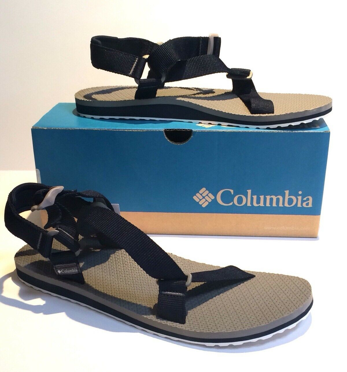 NEW! Columbia Sportswear Red River Sports Sandal Mens Size 12 Navy/Gray