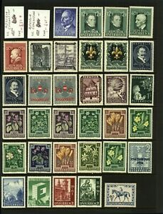 Austria-Range-of-Middle-Period-Issues-Including-039-47-War-Relief-Fund-039-4-M-Stamps