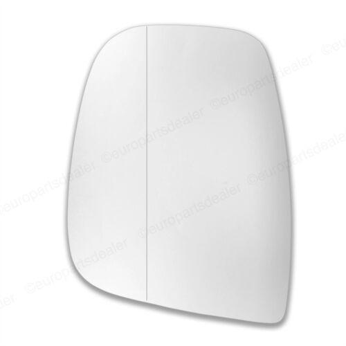 Passenger Left side Wide Angle wing mirror glass for Citroen Berlingo 2012-ON