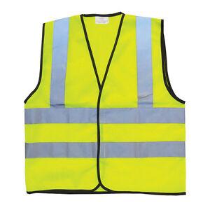 enfants jaune haute visibilit s curit gilet d bardeur veste ext rieur ecole ebay. Black Bedroom Furniture Sets. Home Design Ideas