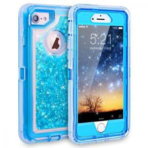 Iphone 7 Case Iphone 6s Case Dexnor Glitter 3d Bling Sparkle Flowing Liquid C Ebay