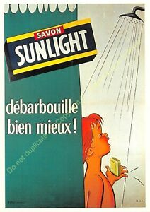 CP Poster Advertising Soap Sunlight Edit Nugeron J121