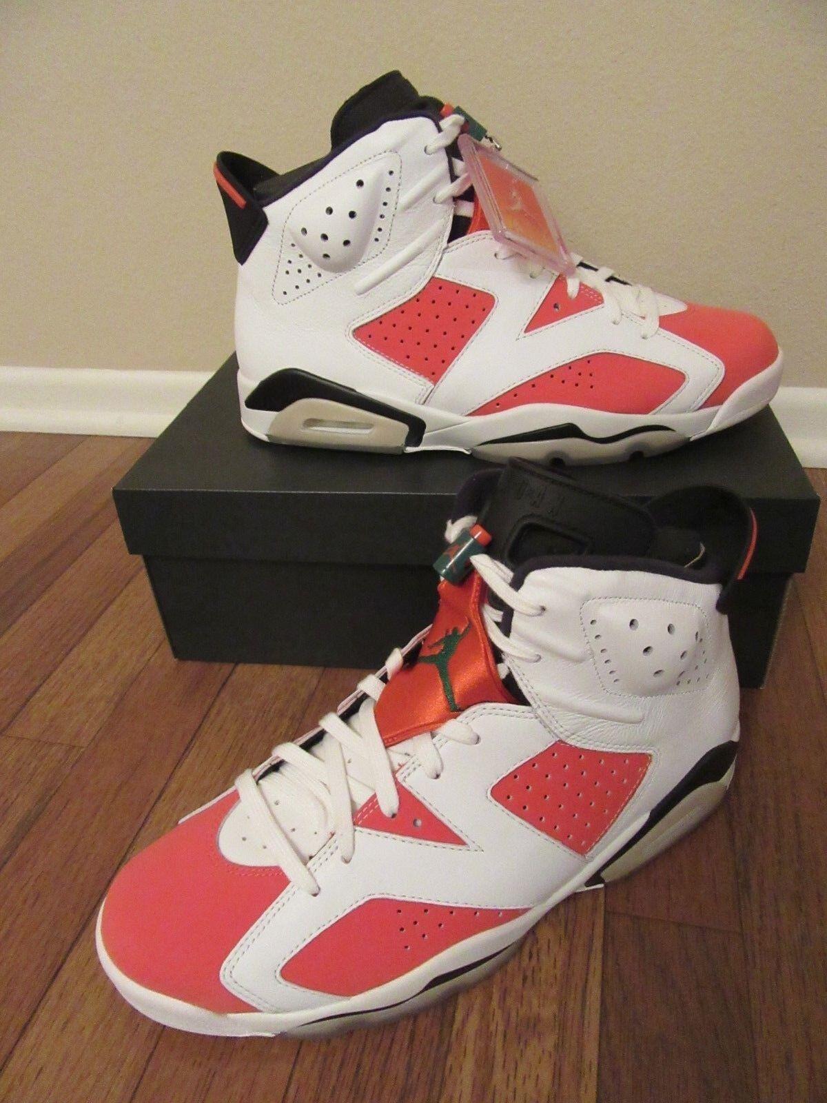 Nike Air Jordan 6 Retro VI Size 11.5 Summit White Team orange Black 384664 145