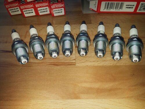 E70 y2004-2013 = Brisk Bujías de actualización de Plata lgs 8x BMW X5 4.8i E53