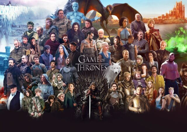 GAME OF THRONES TV SERIES GLOSSY WALL ART POSTER PRINT A1 - A5 SIZES AVAILABLE
