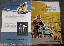 MZ MOTORRAD PROSPEKT ES 175 125/2 BK 350 ES 250 OLDTIMER SAMMLER DDR 1956
