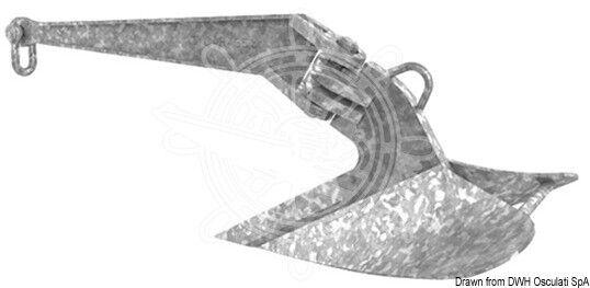 LEWMAR CQR Pflugscharanker aus feuerverzinktem Formstahl 16kg
