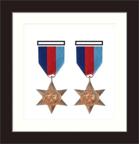 Nouveau Militaire Guerre Médaille boîte 3D Cadre Photo s/'adapte 2 médaille-blanc MountRoyaume-Uni