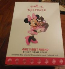 MIB Hallmark 2017 Girl's Best Friend Disney Minnie Mouse Keepsake Ornament