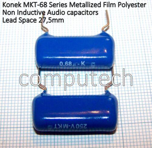 0,68uF x 250V 10/% KONEK MKT-68 series 2 pezzi Condensatore in Poliestere 680nF