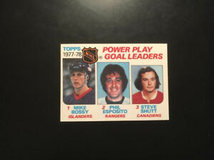 1978-79-Topps-Hockey-Power-Play-Goal-Ldrs-67-Mike-Bossy-Rookie-Esposito-MINT