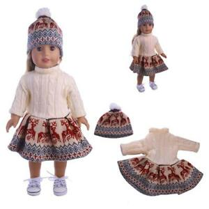 Doll Clothes Dress Outfit Winter Coat Set For 18/'/' Girl Our Generation Doll