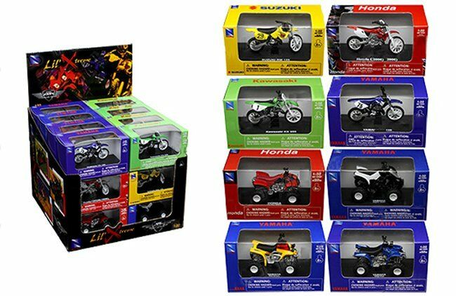 NEWRAY 1:32 LIL' XTREME MOTORCYCLE & ATV ASSORTUomoT 24 Piece w/ Display Box
