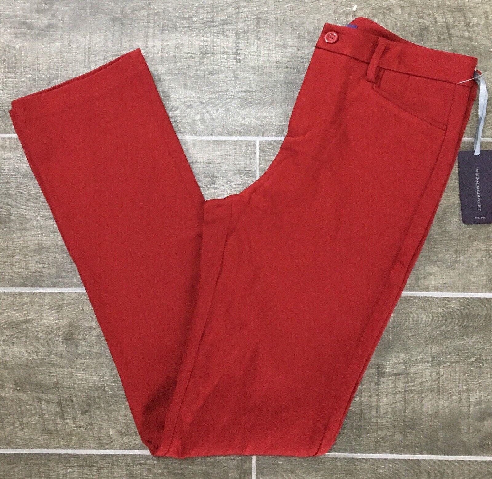 NYDJ Ponte Pants Women's Size 4 Stretch Knit Red J1101