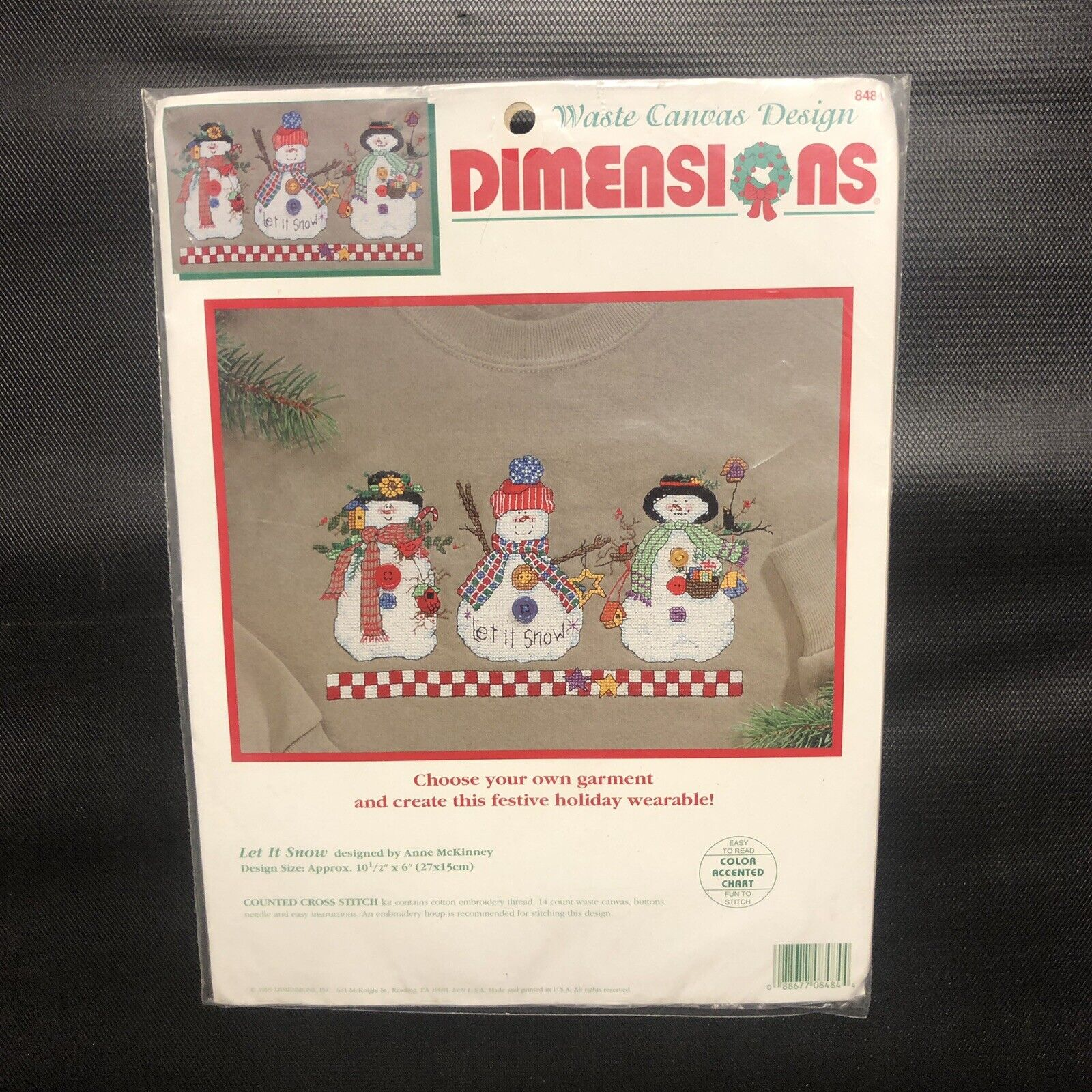 Dimensions Needlecrafts Let it Snow Christmas Kit 4 Embroidery Hoop