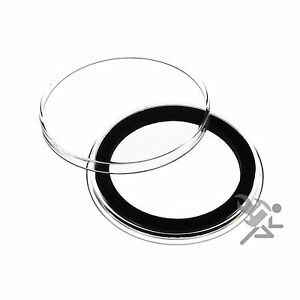 Air-Tite-38mm-Black-Ring-Coin-Capsules-for-1oz-Morgan-Silver-Dollar-10-Pack