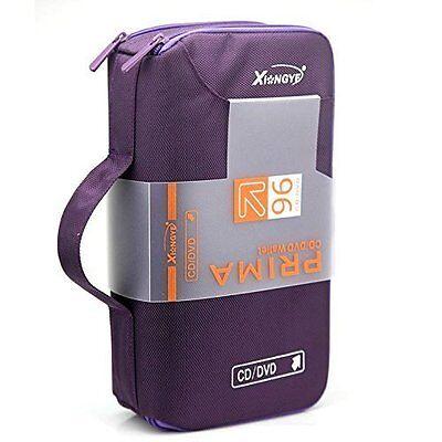96 Disc CD VCD DVD Blu-Ray Storage Bag Wallet Holder Case Box -purple