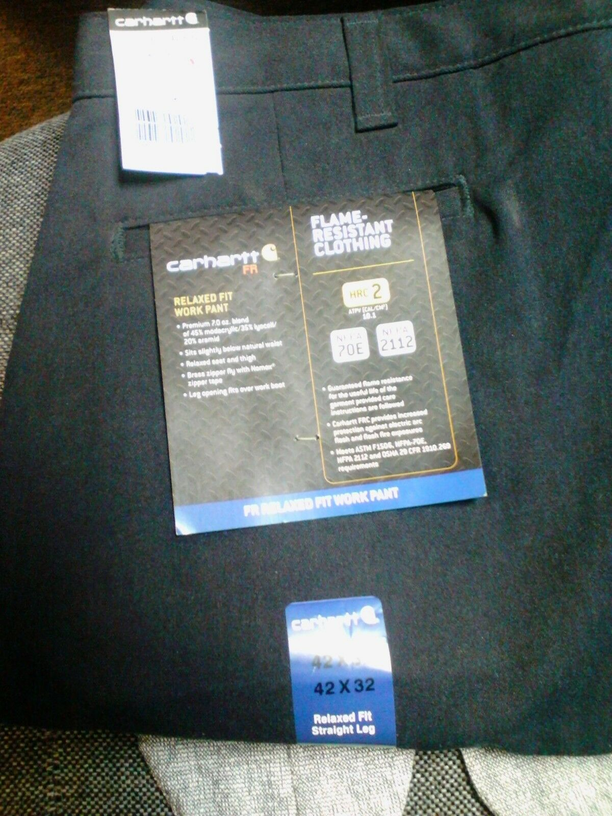 FR Carhartt relaxed fit work pants HRC2 size 42x32