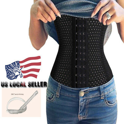 Women Waist Trainer Corset Belt Shaper Body Shapewear Underbust Control Belt,Black,S,United States