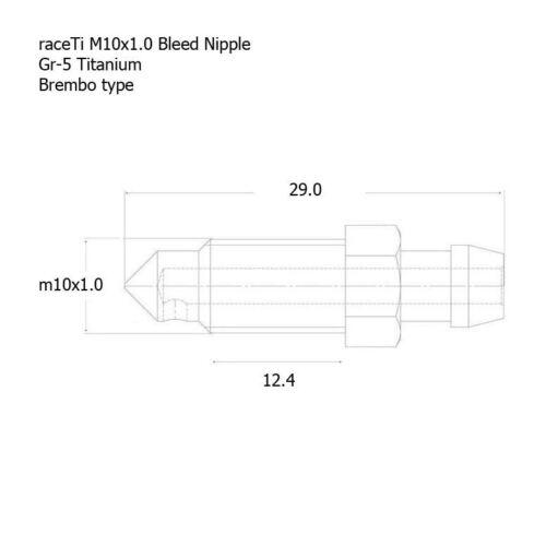 Brembo Titan-Ti Bremssattel Entlüftungsnippel Schraube M10 X1.0